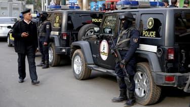 Policiers égyptiens dans la capitale du Caire. (Image d'illustration)
