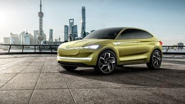Le concept Skoda Vision-E préfigure le premier véhicule 100% électrique de Skoda.