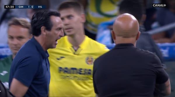 Unai Emery et Jorge Sampaoli lors du match amical OM-Villarreal