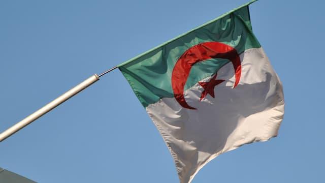 Le drapeau algérien - Image d'illustration