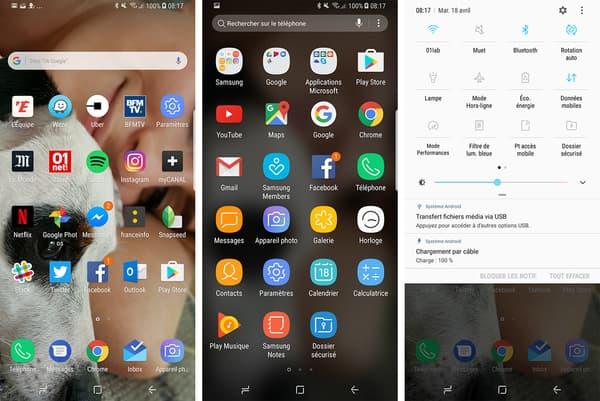 La nouvelle interface du Galaxy S8 est très agréable