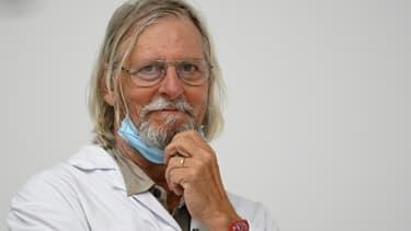 Le professeur Didier Raoult lors d'une conférence de presse à Marseille, le 27 août 2020