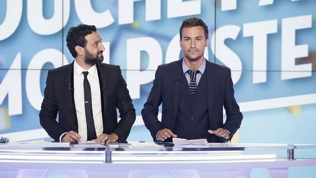 Cyril Hanouna et Bertrand Chameroy dans l'émission Touche pas à mon Poste, sur D8.