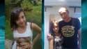 Aurore Mangel seule et avec son père Michael Krackenberger, portés tous les deux disparus depuis dimanche.