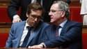 Pacôme Rupin et Richard Ferrand à l'Assemblée nationale le 2 août 2017.