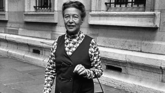 Simone de Beauvoir en 1971 à Paris