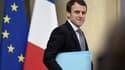 Emmanuel Macron le 4 mars 2015 à la sortie de l'Elysée.