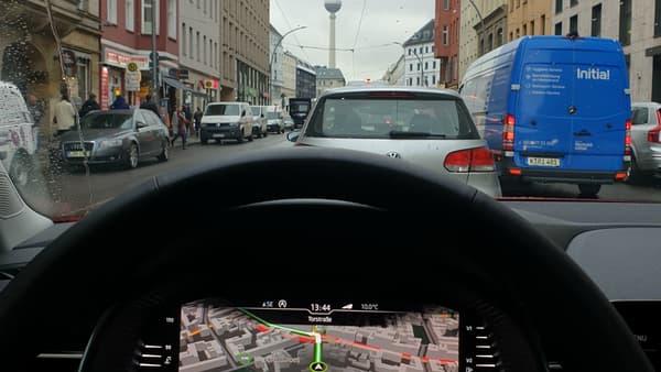 Le digital cockpit permet d'afficher la navigation juste sous le nez du conducteur.