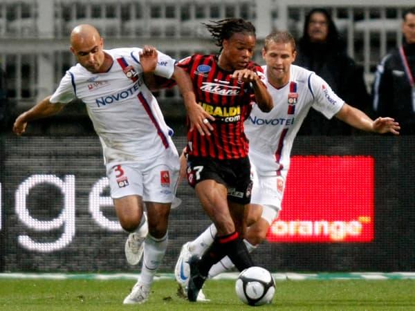 Loïc Rémy, attaquant international de l'OGC Nice
