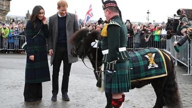 Meghan Markle et le prince Harry, en visite officielle en Ecosse, le 13 février 2018.