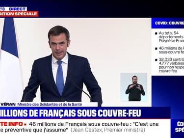 """Olivier Véran sur les places en réanimation: """"Nous sommes capables de monter à 7700 lits dans un délai de moins de 15 jours"""""""