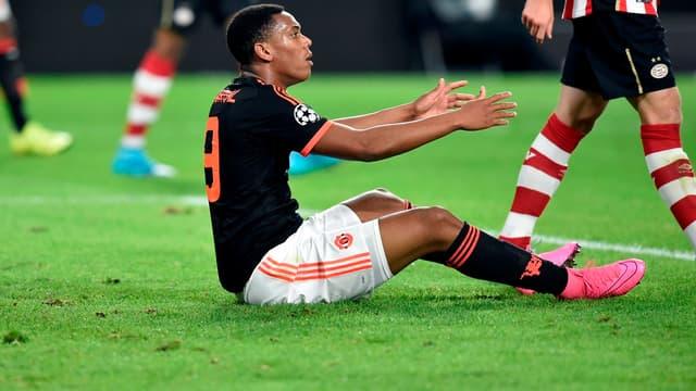 Anthony Martial sur le terrain du PSV Eindhoven