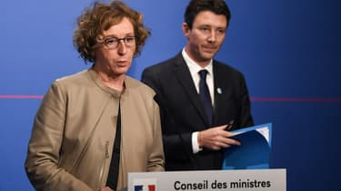 La ministre du Travail Muriel Pénicaud et le porte-parole du gouvernement Benjamin Griveaux.