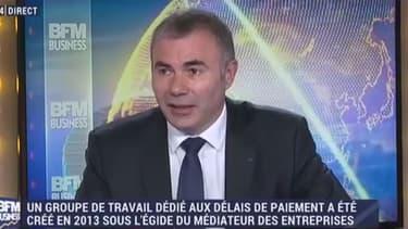 """""""Un entrepreneur qui a un carnet de commandes rempli mais qui n'est pas sûr d'être payé, risque de ne pas embaucher"""" déplore Pierre Pelouzet, le médiateur des entrepises."""