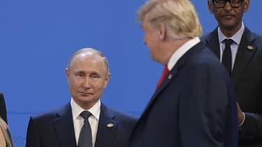 Donald Trump et Vladimir Poutine à Buenos Aires en novembre dernier.