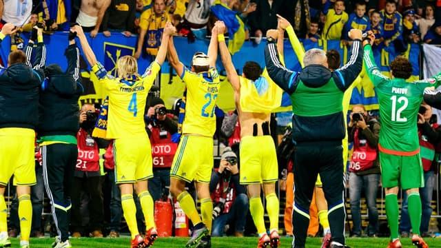 La joie des Ukrainiens qualifiés pour l'Euro après leur barrage victorieux