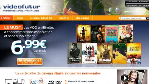 Video Futur a lancé une offre qui combine vidéo-à-la-demande par internet et location de DVD par voie postale