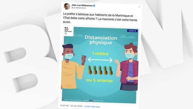 L'affiche polémique de la préfecture de la Martinique