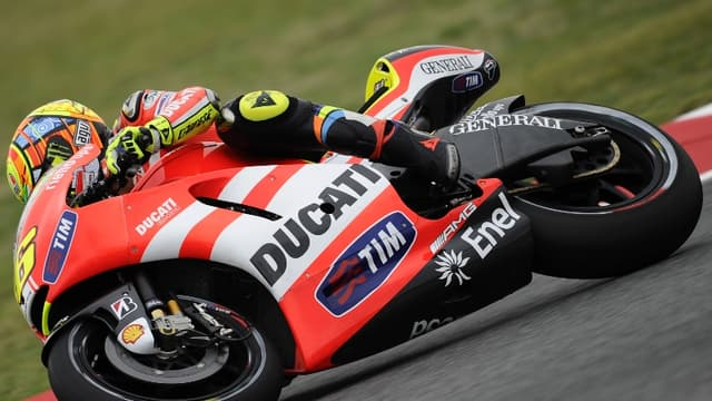 Valentino Rossi sur le tracé catalan