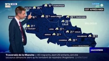 Météo Nord-Pas-de-Calais: des orages dans les terres, jusqu'à 21°C cet après-midi
