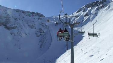 Un télésiège dans la station de ski Hochkar en Autriche.