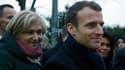 Valérie Pécresse et Emmanuel Macron à Villeneuve-Saint-Georges.
