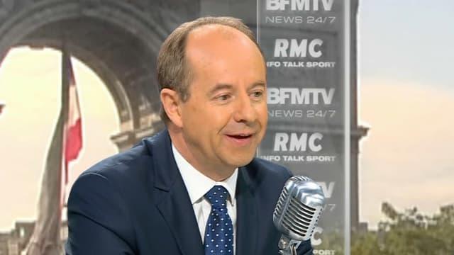 Jean-Jacques Urvoas sur le plateau de RMC, le 13 juillet 2016.