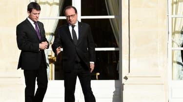 Manuel Valls et François Hollande à l'Elysée.