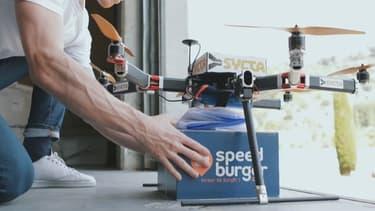 Le drone a parcouru 20 kilomètres avant de livrer les 3 menus commandés.