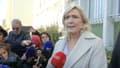 Marine Le Pen à Alençon ce jeudi.