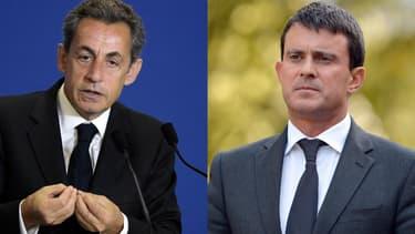"""Nicolas Sarkozy et Manuel Valls viennent soutenir """"leurs"""" candidats dans l'Essonne lundi."""