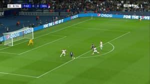 L'ouverture du score de Mbappé lors de PSG-Leipzig, à Paris le 19 octobre 2021