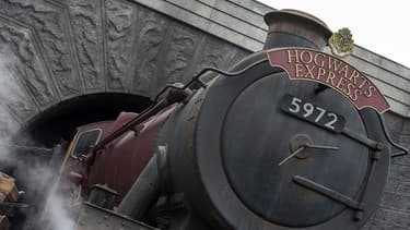 Le Poudlard Express, dans le parc Harry Potter à Hollywood