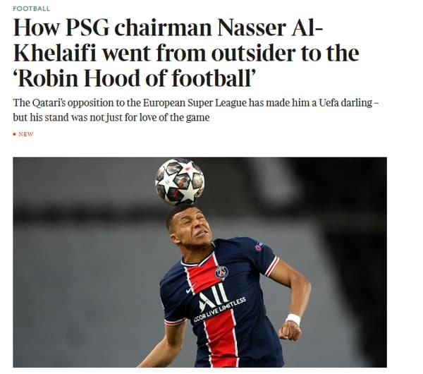 Comment Nasser Al-Khelaïfi est-il devenu le robin des bois du football, s'interroge le Times
