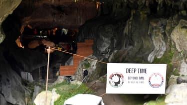 L'entrée de la grotte choisie pour la mission Deeptime, dans l'Ariège.