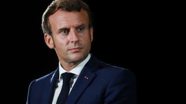 Le président Emmanuel Macron le 10 septembre 2020 à Porticcio, Corse