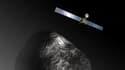 Vue d'artiste de la sonde Rosetta, lancée en 2004 par l'Agence spatiale européenne.