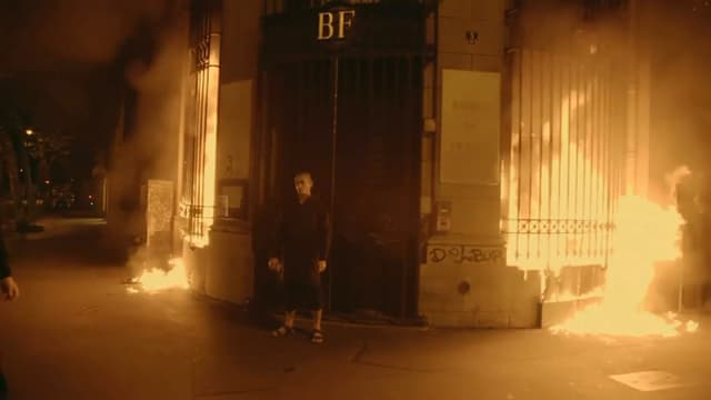 L'artiste avait incendié une succursale de la Banque de France à Paris
