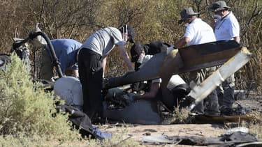 Des enquêteurs français sur les lieux du crash en mars dernier, à La Rioja en Argentine.