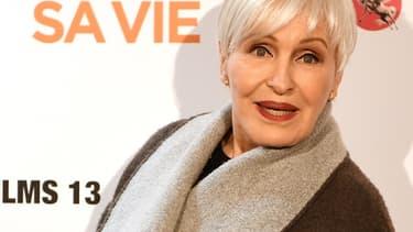 """Nicole Croisille à la première parisienne du film """"Chacun sa vie"""" de Claude Lelouch, le 13 mars 2017"""