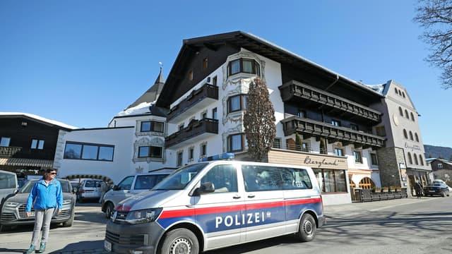 Un véhicule de la police autrichienne - Image d'illustration