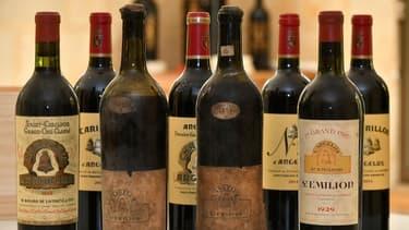 Sélection de grands crus de Bordeaux (illustration)