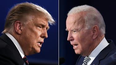 Donald Trump (à gauche) et Joe Biden (à droite). (Photo d'illustration)