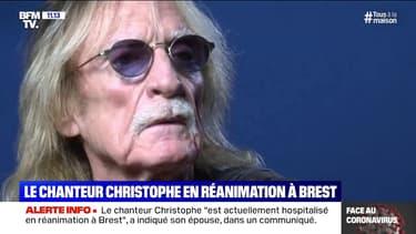 """Le chanteur Christophe """"est actuellement hospitalisé en réanimation à Brest"""" a indiqué son épouse"""