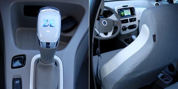 La Zoé est exclusivement à boîte automatique. Ses sièges aussi sont futuristes.