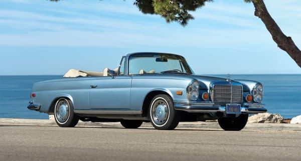 Excellant dans l'élégance, ce cabriolet Mercedes de 1969 sera présent à Essen cette année.