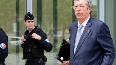 Patrick Balkany devant le Palais de Justice de Paris le 22 mai 2019