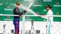 Pierre Gasly et Lewis Hamilton au Brésil en 2019