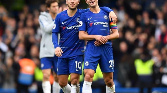 Eden Hazard et Cesar Azpilicueta