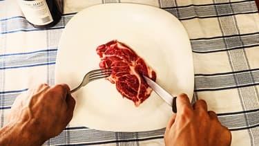 Un morceau de viande. (Photo d'illustration)